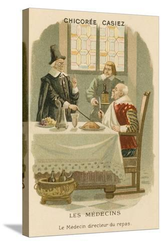 A Doctor Telling a Man What He Should Eat--Stretched Canvas Print