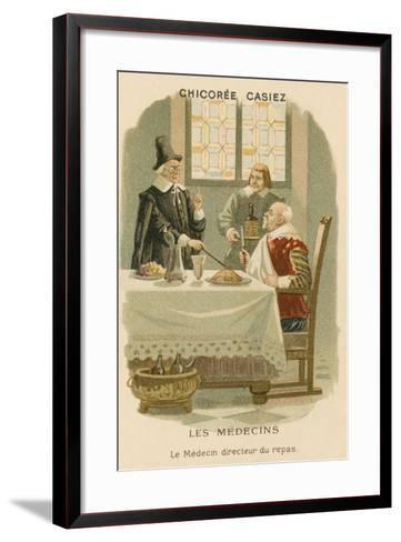 A Doctor Telling a Man What He Should Eat--Framed Art Print
