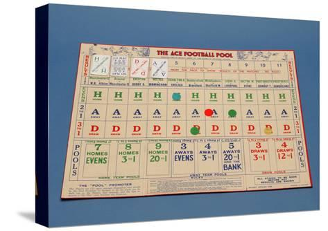 "The ""Ace"" Football Pool Game, 1930S--Stretched Canvas Print"