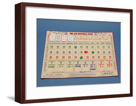 "The ""Ace"" Football Pool Game, 1930S--Framed Art Print"