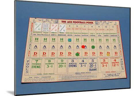 "The ""Ace"" Football Pool Game, 1930S--Mounted Giclee Print"