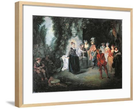 Love in French Theatre-Jean-Antoine Watteau-Framed Art Print