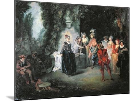 Love in French Theatre-Jean-Antoine Watteau-Mounted Giclee Print
