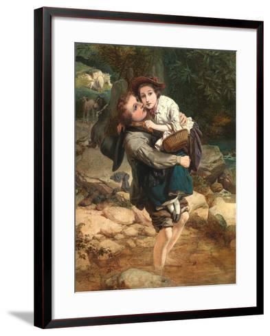 Crossing the Stream-William A. Atkinson-Framed Art Print