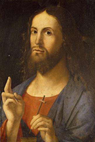 The Saviour Blessing, 1498-Alvise Vivarini-Stretched Canvas Print