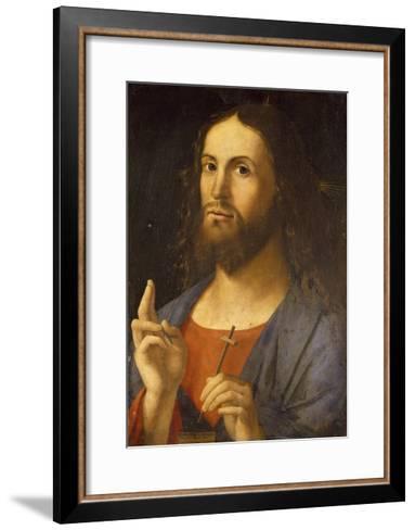 The Saviour Blessing, 1498-Alvise Vivarini-Framed Art Print