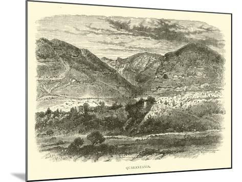 Quarantania--Mounted Giclee Print