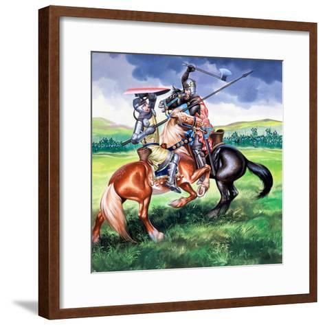 Robert Bruce About to Kill Sir Henry De Bohum-Ron Embleton-Framed Art Print