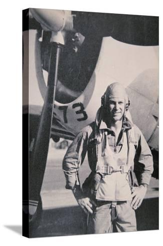 Robert S. Johnson, WW2 American Air Ace, 1943-5--Stretched Canvas Print