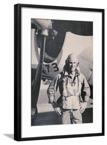 Robert S. Johnson, WW2 American Air Ace, 1943-5--Framed Art Print