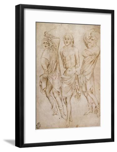 Flagellation of Christ, by Stefano Da Verona--Framed Art Print