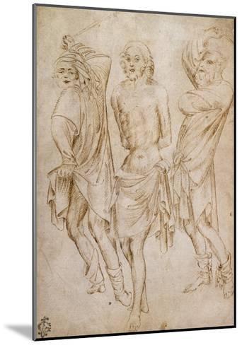 Flagellation of Christ, by Stefano Da Verona--Mounted Giclee Print