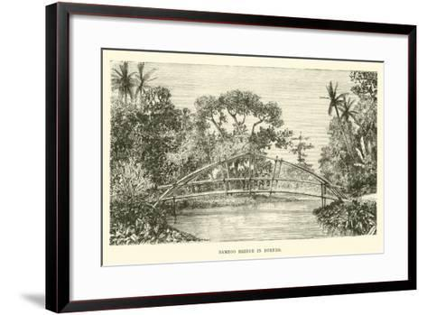 Bamboo Bridge in Borneo--Framed Art Print