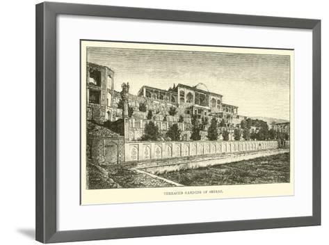 Terraced Gardens of Shiraz--Framed Art Print