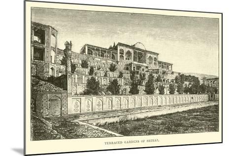 Terraced Gardens of Shiraz--Mounted Giclee Print