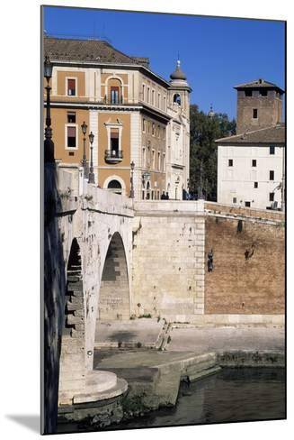 View of Tiber Island and Pons Cestius--Mounted Giclee Print