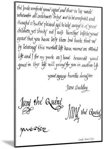 Lady Jane Grey--Mounted Giclee Print