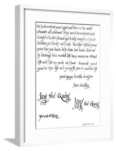Lady Jane Grey--Framed Art Print