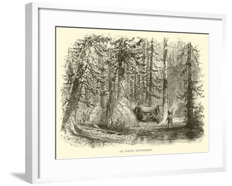 An Indian Settlement--Framed Art Print