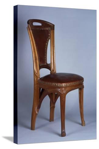 Art Nouveau Style Chair, 1900-Eugene Vallin-Stretched Canvas Print