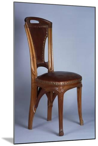 Art Nouveau Style Chair, 1900-Eugene Vallin-Mounted Giclee Print