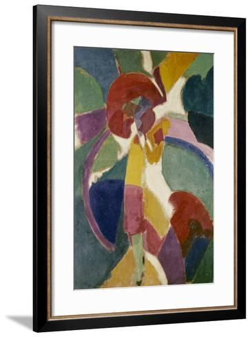 Woman with a Parasol, 1913-Robert Delaunay-Framed Art Print
