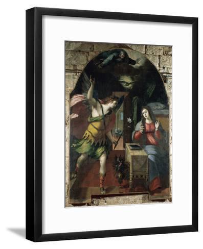 The Annunciation, 1590-Wenceslas Cobergher-Framed Art Print