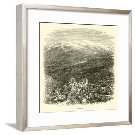 Hermon--Framed Art Print