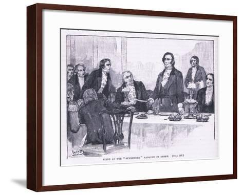 Scene of the Surrender Banquet in Derry Ad 1828--Framed Art Print