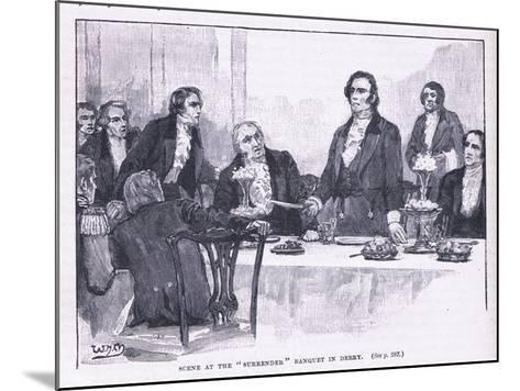 Scene of the Surrender Banquet in Derry Ad 1828--Mounted Giclee Print