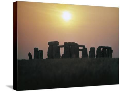 Stonehenge at Sunset--Stretched Canvas Print
