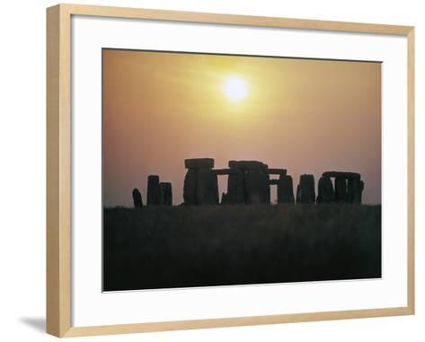 Stonehenge at Sunset--Framed Art Print