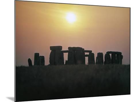 Stonehenge at Sunset--Mounted Photographic Print