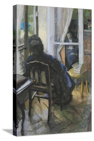 At the Window-Edouard Vuillard-Stretched Canvas Print