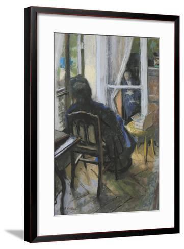 At the Window-Edouard Vuillard-Framed Art Print