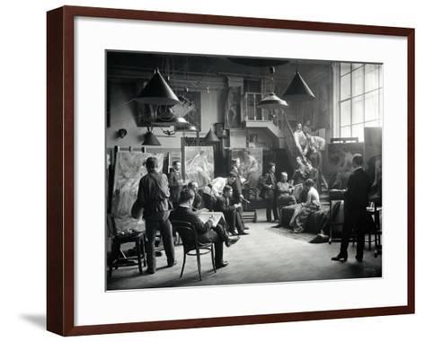 Life Class at the Imperial Academy of Art, C.1914--Framed Art Print