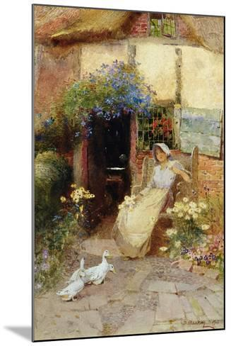At the Cottage Door, 1913-Thomas Mackay-Mounted Giclee Print