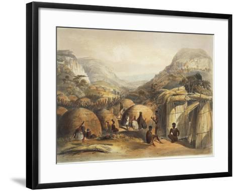 South Africa, Natal Province, Inanda's Kraal--Framed Art Print