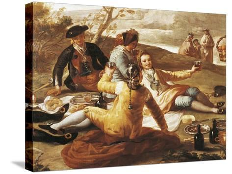 Detail of Picnic on Banks of Manzanares--Stretched Canvas Print