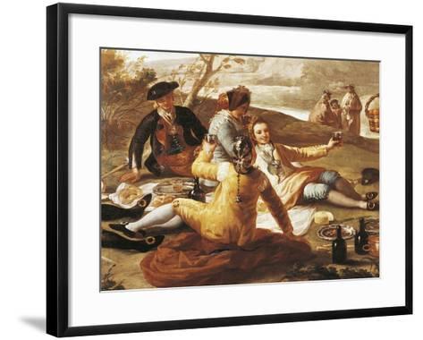 Detail of Picnic on Banks of Manzanares--Framed Art Print