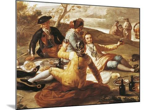 Detail of Picnic on Banks of Manzanares--Mounted Giclee Print