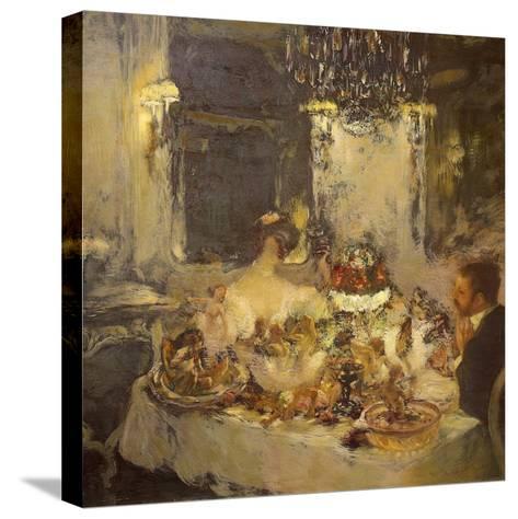 Champagne-Gaston La Touche-Stretched Canvas Print
