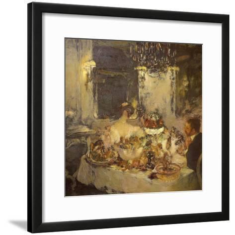 Champagne-Gaston La Touche-Framed Art Print