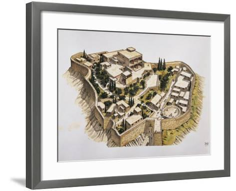 Reconstruction of Ancient Mycenae--Framed Art Print