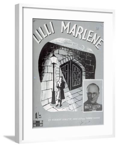 Sheet Music Cover for the Song 'Lili Marleen'--Framed Art Print