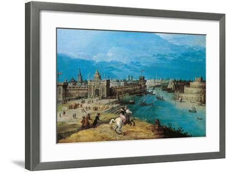 Hunting the Lion at the Gates of Babylon-Adriaen I van Nieulandt-Framed Art Print