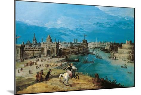 Hunting the Lion at the Gates of Babylon-Adriaen I van Nieulandt-Mounted Giclee Print