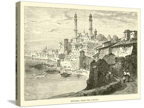 Benares, from the Ganges--Stretched Canvas Print