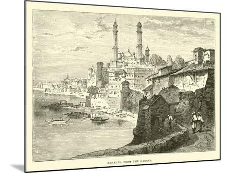 Benares, from the Ganges--Mounted Giclee Print