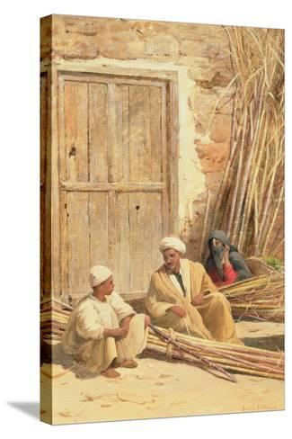 Sellers of Sugar Cane, Egypt, 1892-David Bates-Stretched Canvas Print